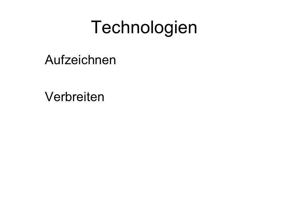 Technologien Aufzeichnen Verbreiten