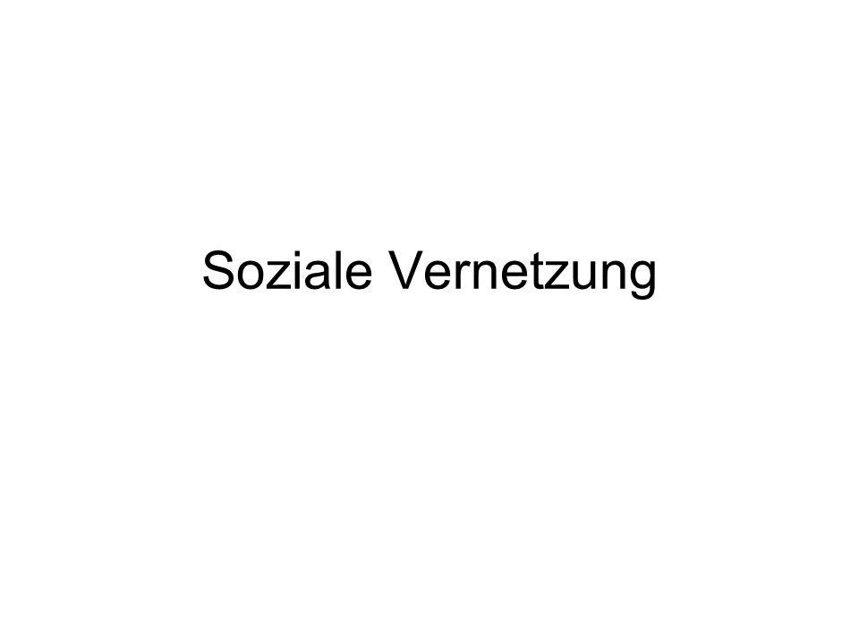 Soziale VernetzungDer zweite Aspekt ist folgt aus den sozialen Nutzungen dieser Mensch-Maschine-Kopplung.