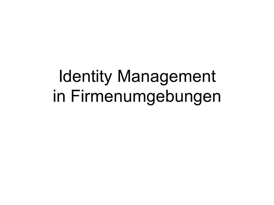 Identity Management in Firmenumgebungen