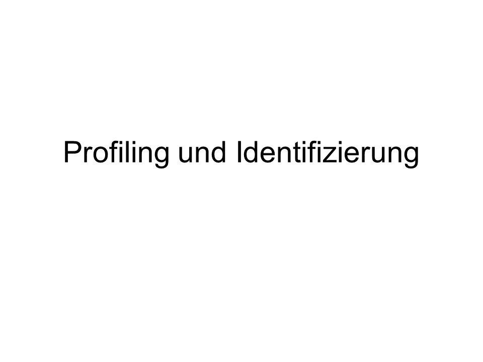 Profiling und Identifizierung