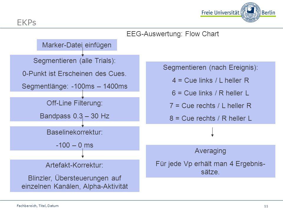 EKPs EEG-Auswertung: Flow Chart Marker-Datei einfügen