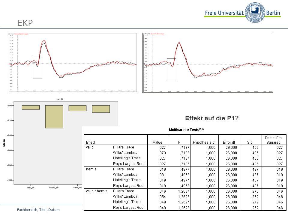 EKP Effekt auf die P1 Fachbereich, Titel, Datum