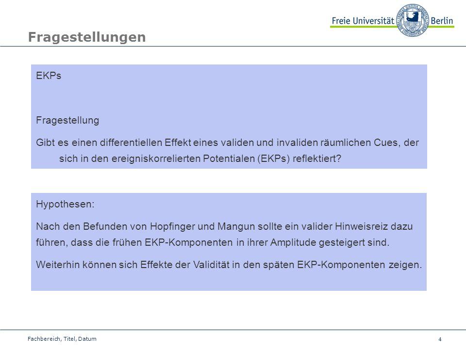 Fragestellungen EKPs Fragestellung
