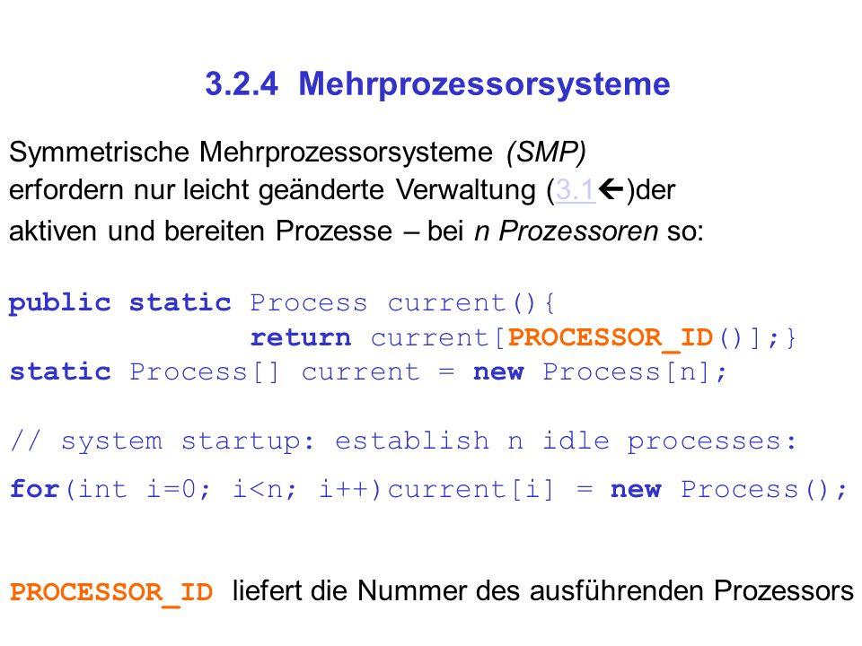 3.2.4 Mehrprozessorsysteme