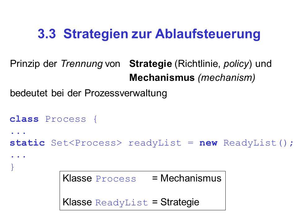 3.3 Strategien zur Ablaufsteuerung