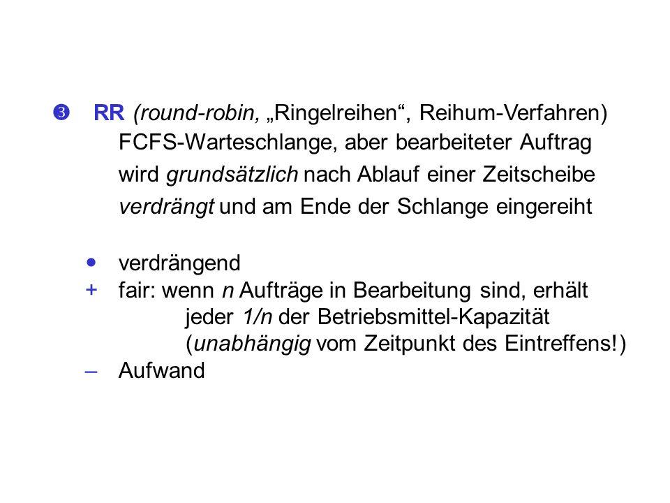 """ RR (round-robin, """"Ringelreihen , Reihum-Verfahren)"""