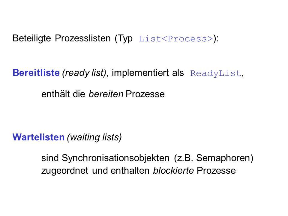 Beteiligte Prozesslisten (Typ List<Process>):