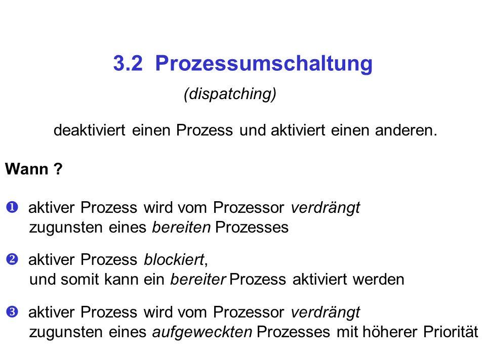 3.2 Prozessumschaltung (dispatching)
