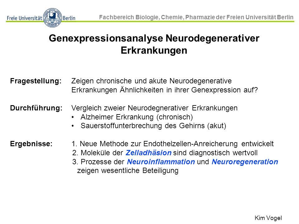 Genexpressionsanalyse Neurodegenerativer Erkrankungen