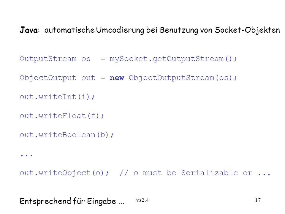 Java: automatische Umcodierung bei Benutzung von Socket-Objekten