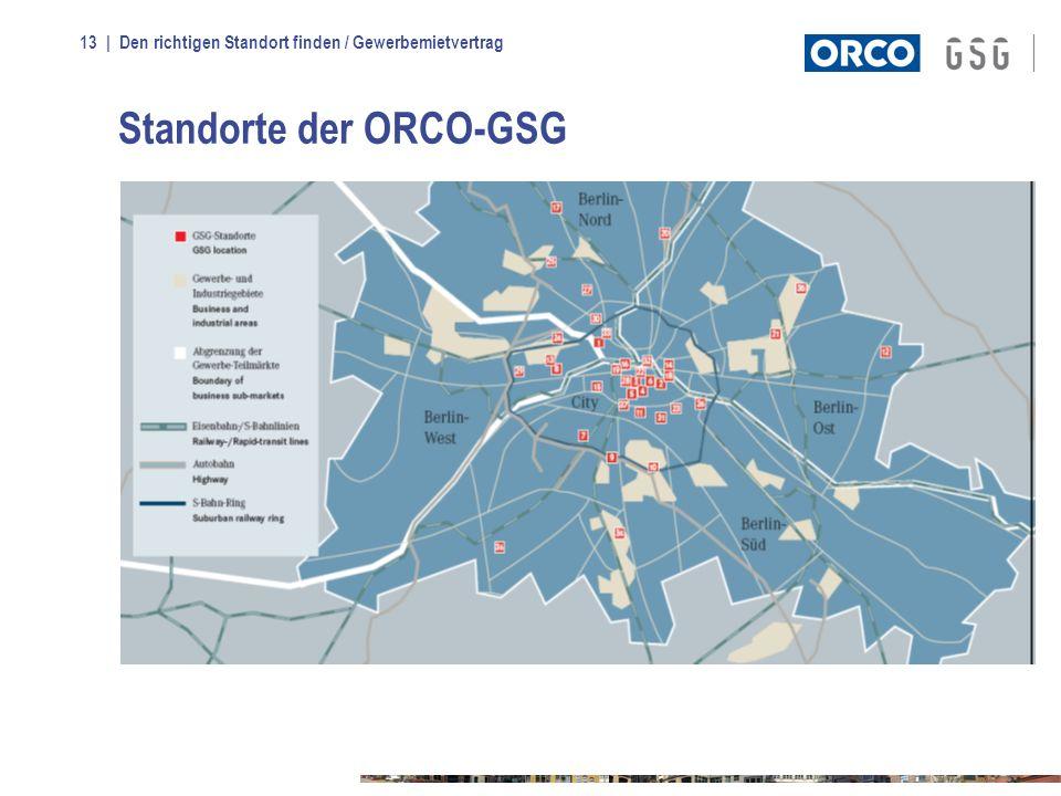 Standorte der ORCO-GSG