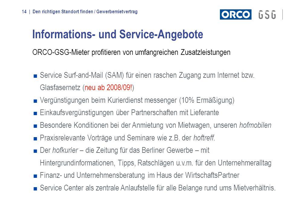 Informations- und Service-Angebote