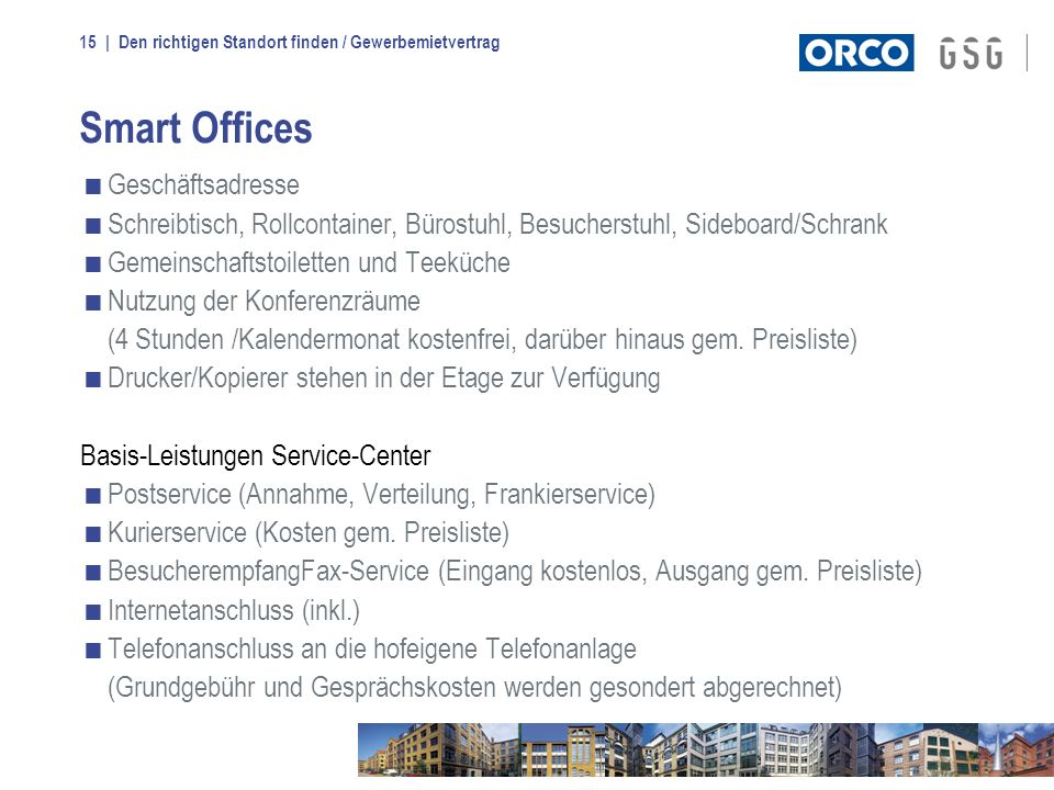 Smart Offices Geschäftsadresse