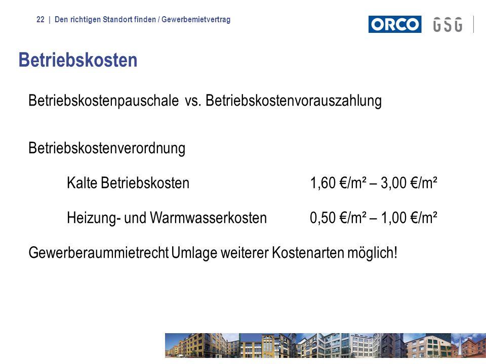 Betriebskosten Betriebskostenpauschale vs. Betriebskostenvorauszahlung