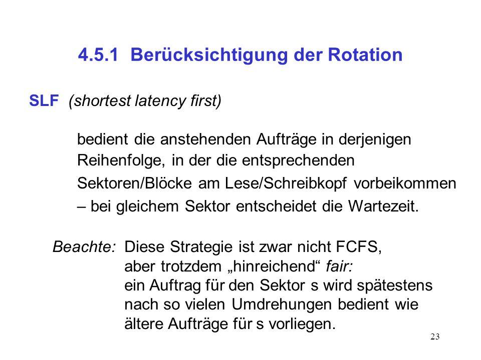 4.5.1 Berücksichtigung der Rotation
