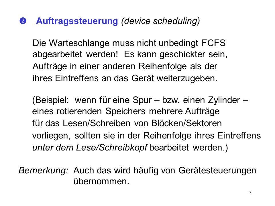  Auftragssteuerung (device scheduling)