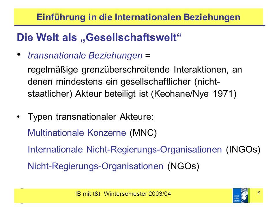 Einführung in die Internationalen Beziehungen