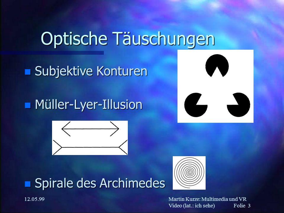 Optische Täuschungen Subjektive Konturen Müller-Lyer-Illusion