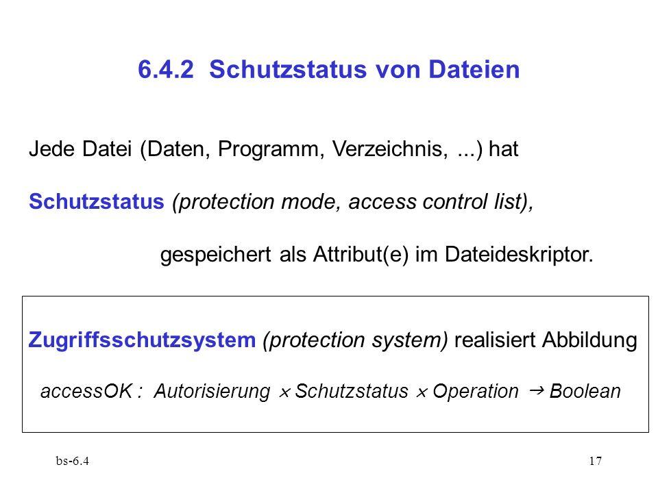 6.4.2 Schutzstatus von Dateien