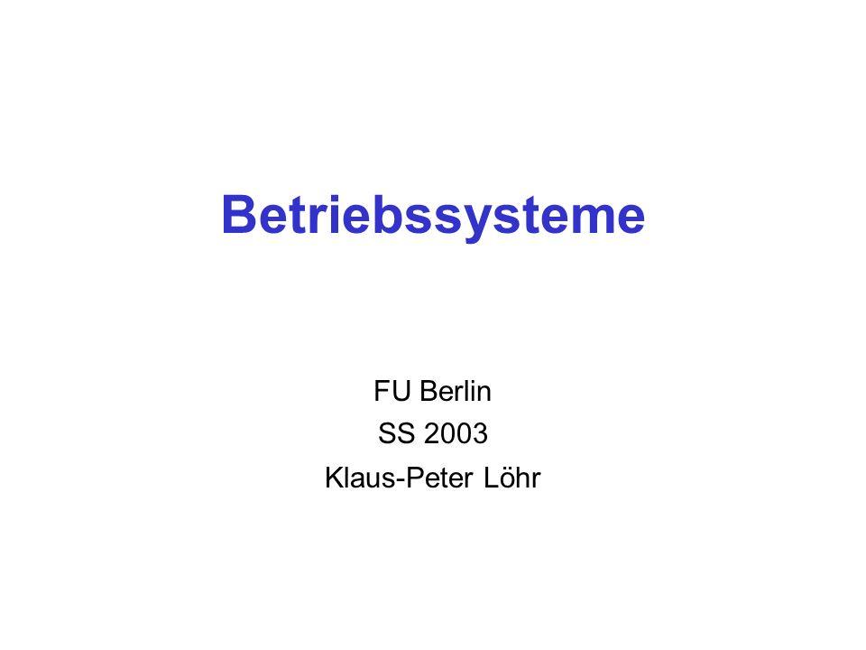 FU Berlin SS 2003 Klaus-Peter Löhr