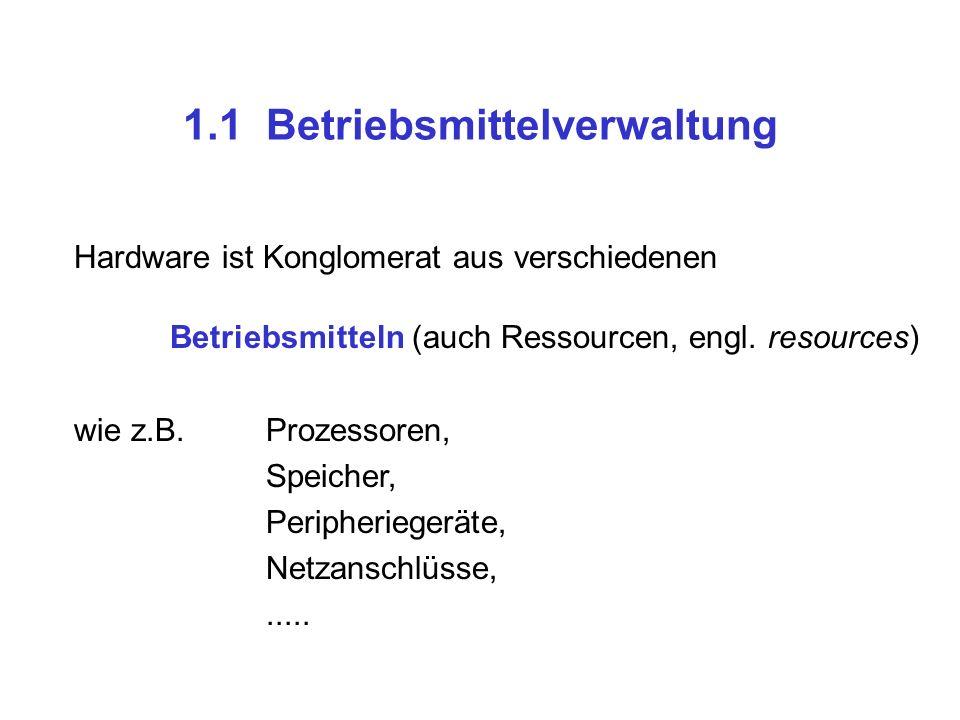 1.1 Betriebsmittelverwaltung