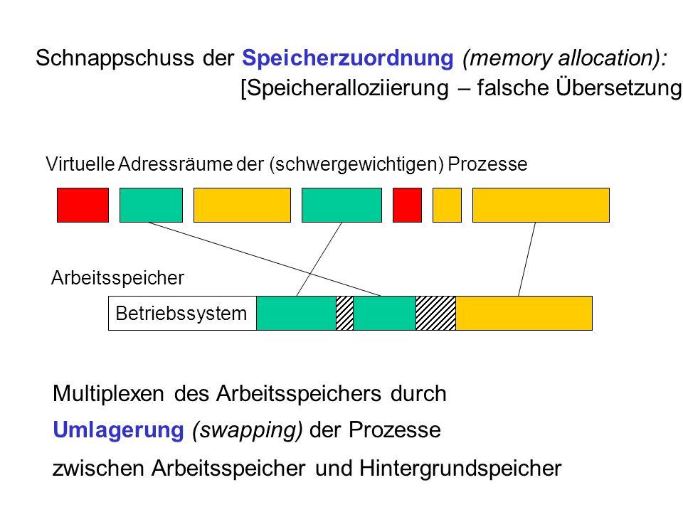 Schnappschuss der Speicherzuordnung (memory allocation):