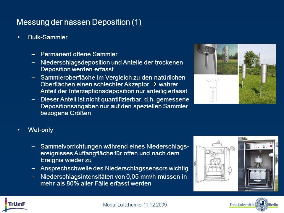 Messung der nassen Deposition (1)