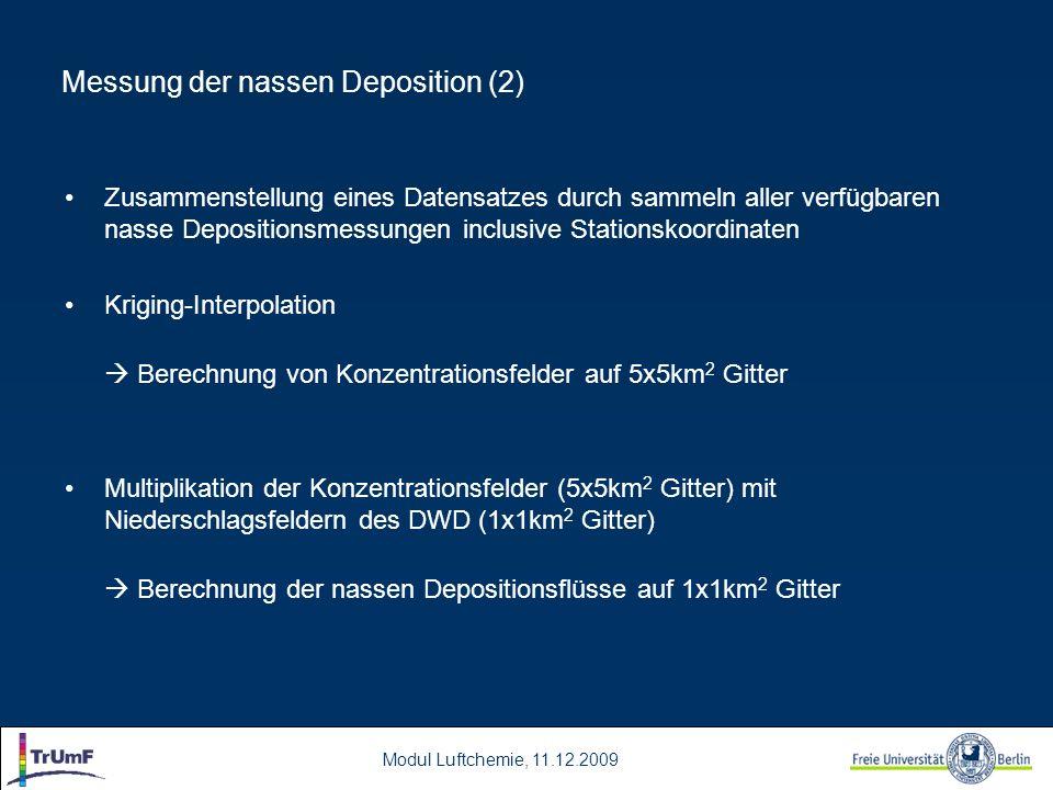 Messung der nassen Deposition (2)