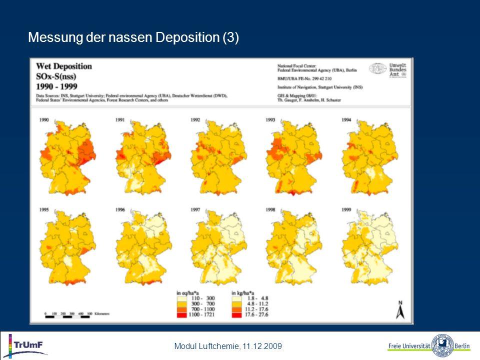 Messung der nassen Deposition (3)