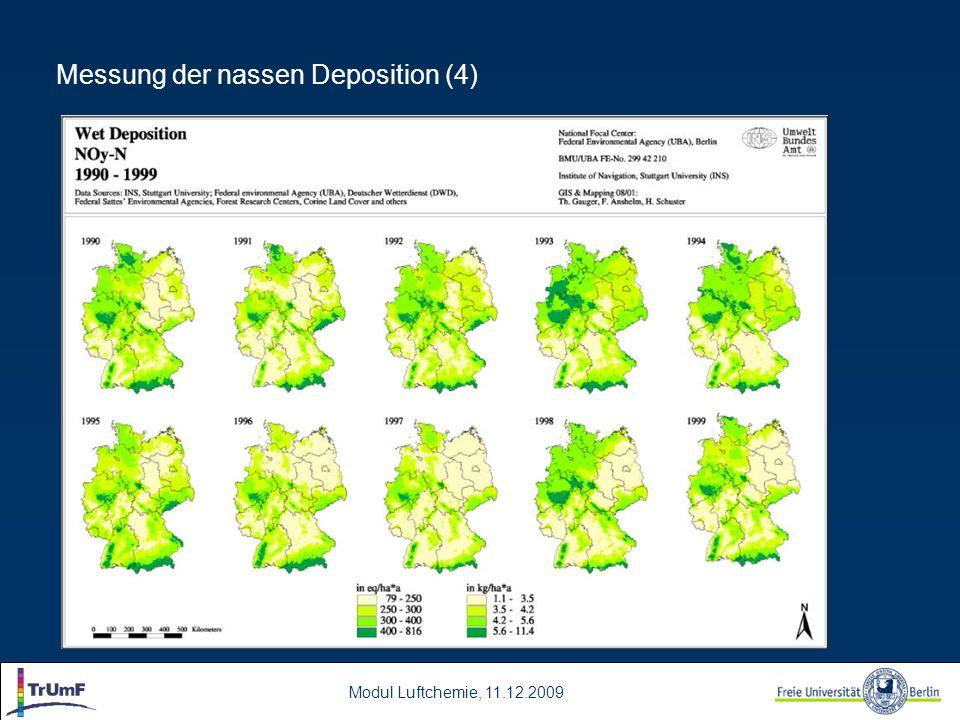 Messung der nassen Deposition (4)