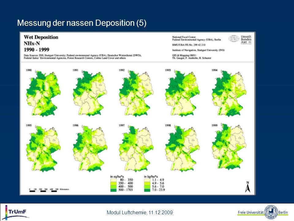 Messung der nassen Deposition (5)