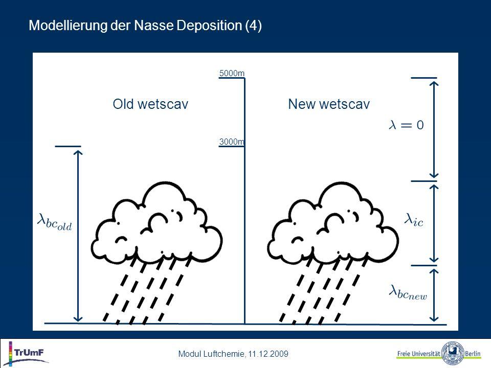 Modellierung der Nasse Deposition (4)