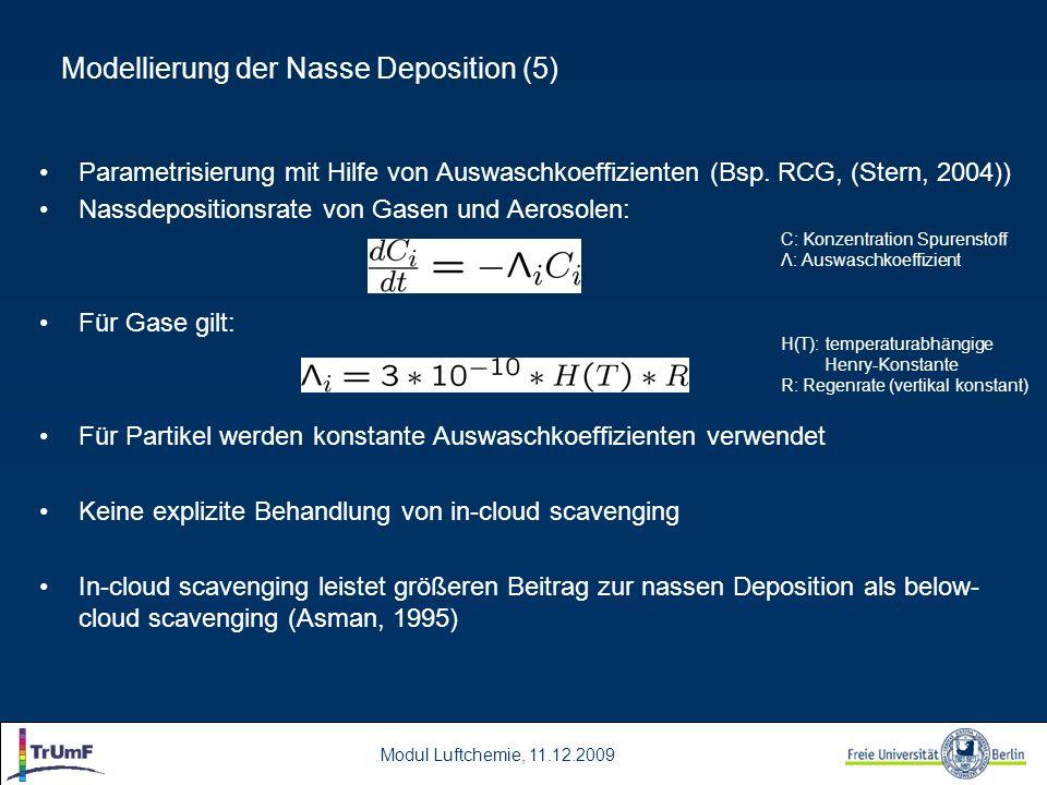 Modellierung der Nasse Deposition (5)