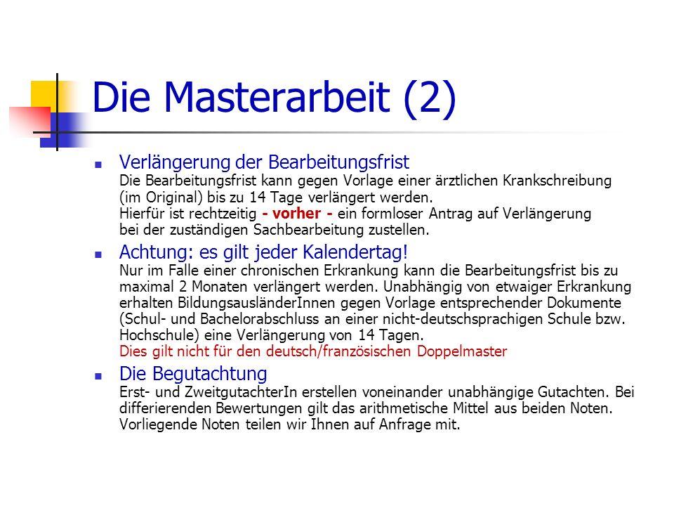 Die Masterarbeit (2)