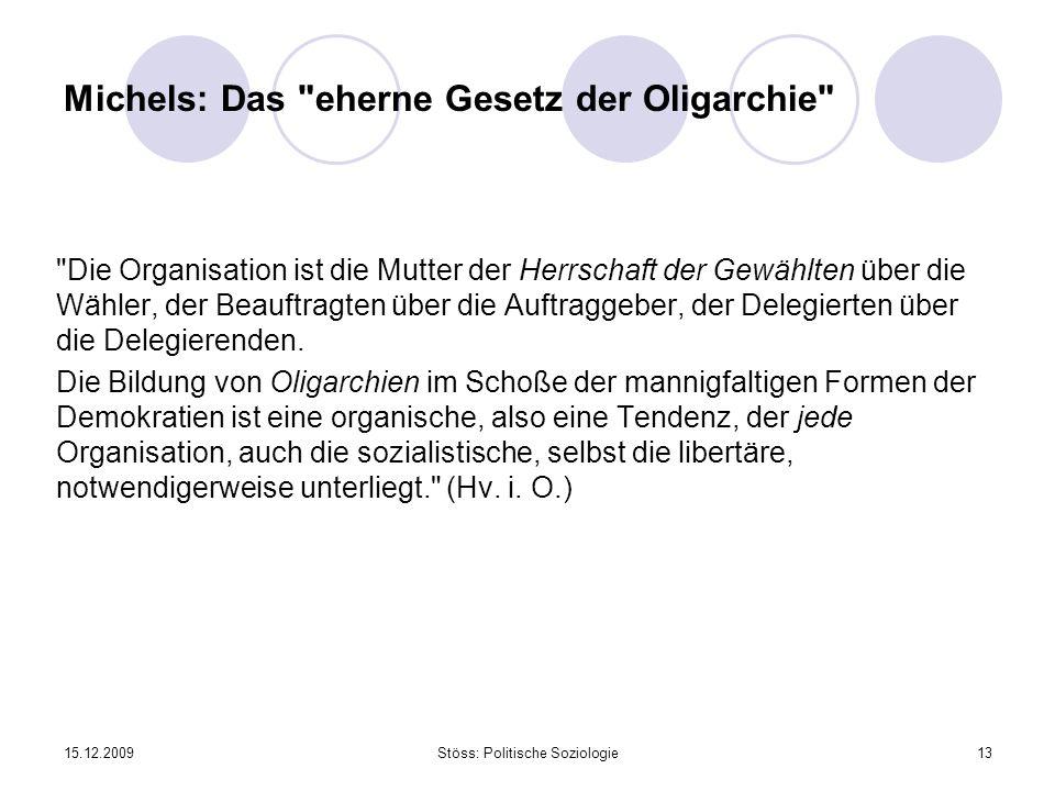 Michels: Das eherne Gesetz der Oligarchie