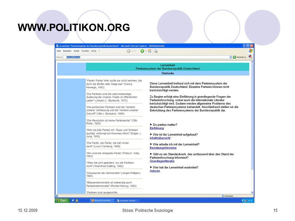 Stöss: Politische Soziologie