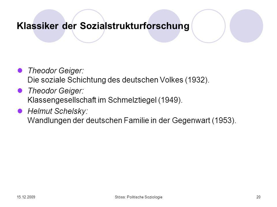 Klassiker der Sozialstrukturforschung