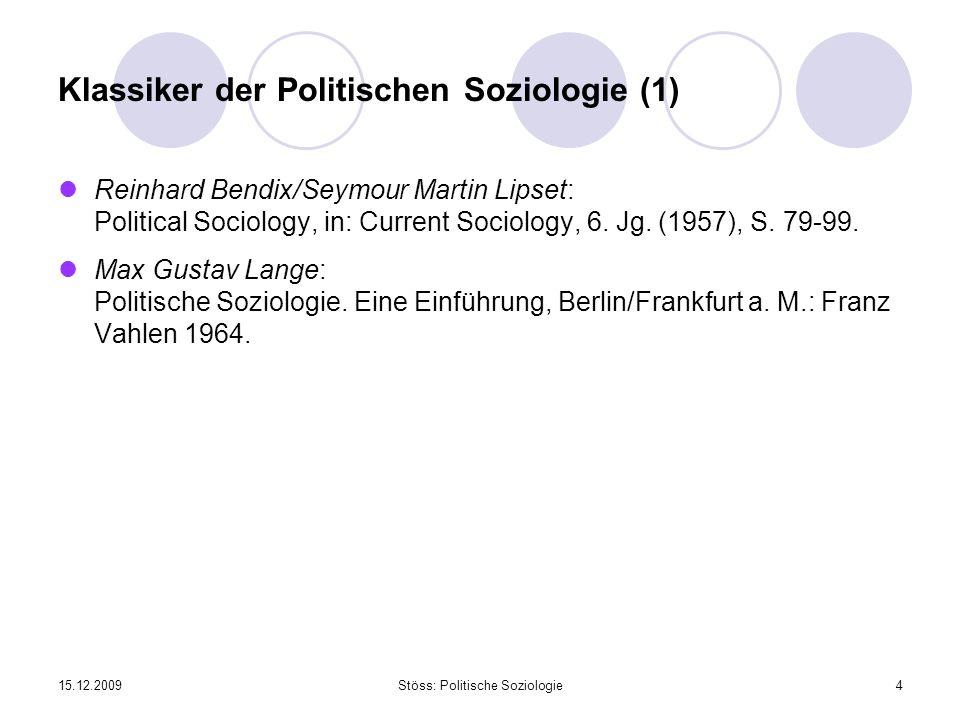 Klassiker der Politischen Soziologie (1)