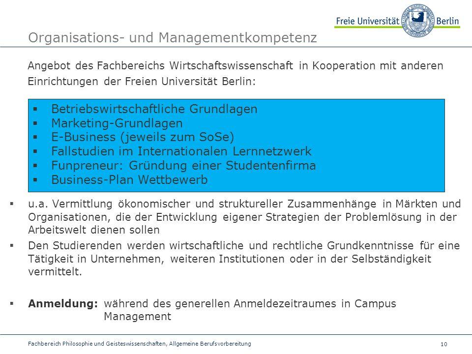 Organisations- und Managementkompetenz