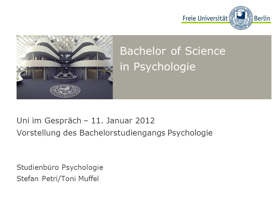 Bachelor of Science in Psychologie