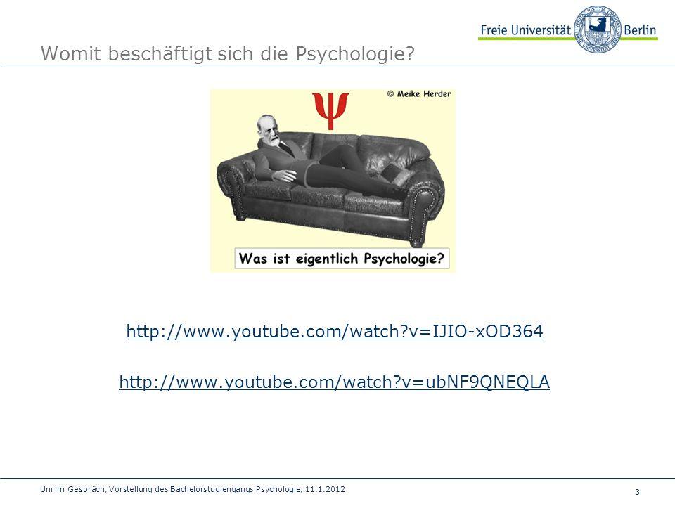Womit beschäftigt sich die Psychologie
