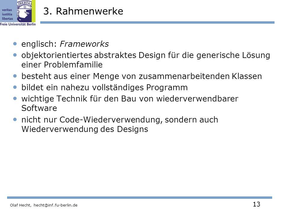 3. Rahmenwerke englisch: Frameworks