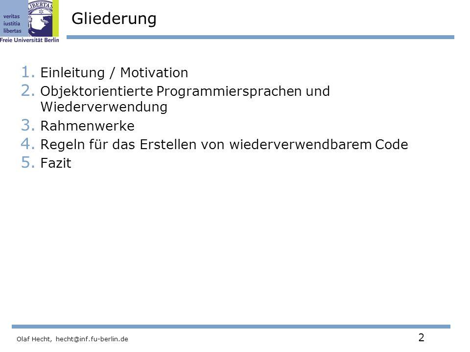Gliederung Einleitung / Motivation
