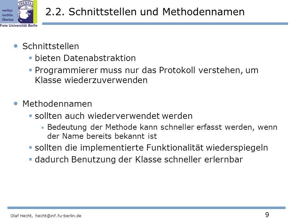 2.2. Schnittstellen und Methodennamen
