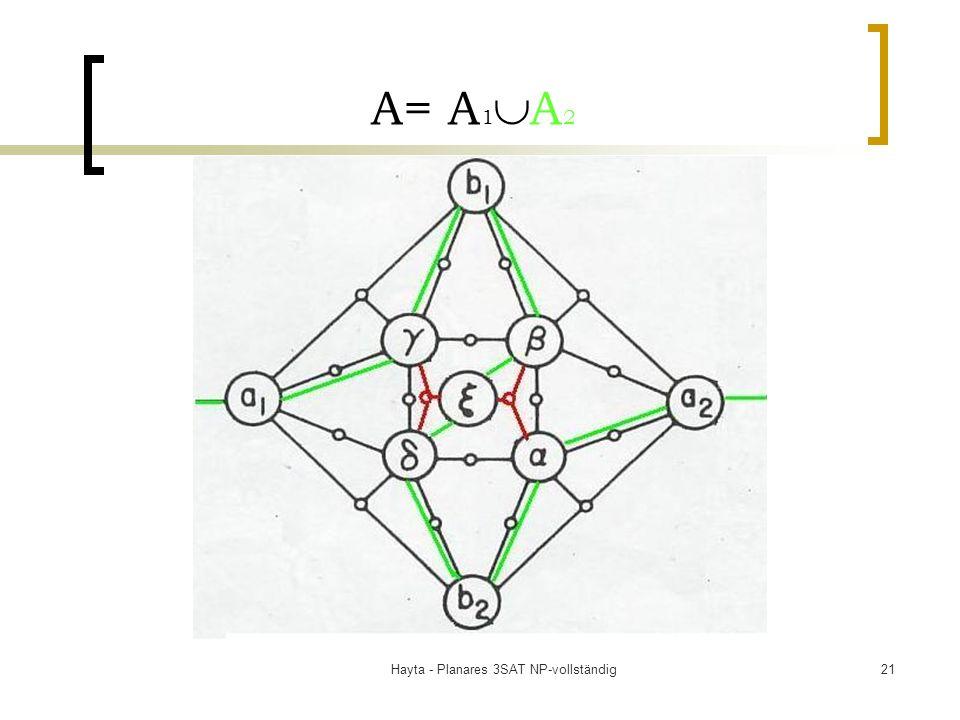 Hayta - Planares 3SAT NP-vollständig