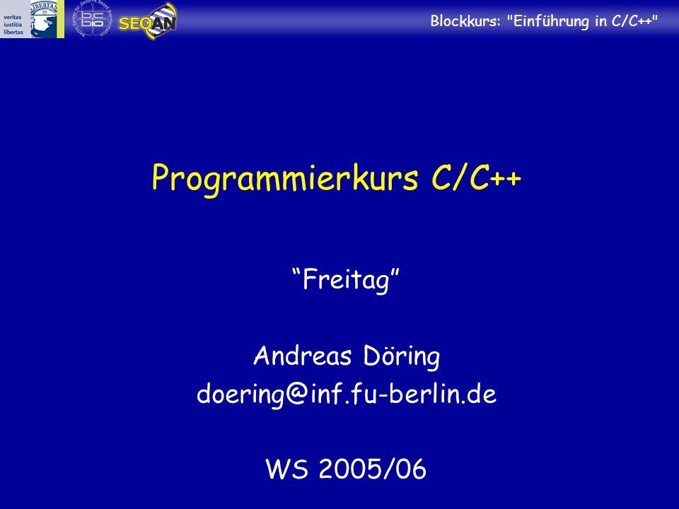 Programmierkurs C/C++