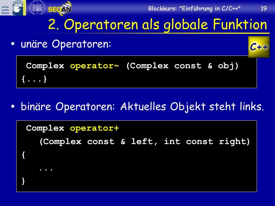 2. Operatoren als globale Funktion