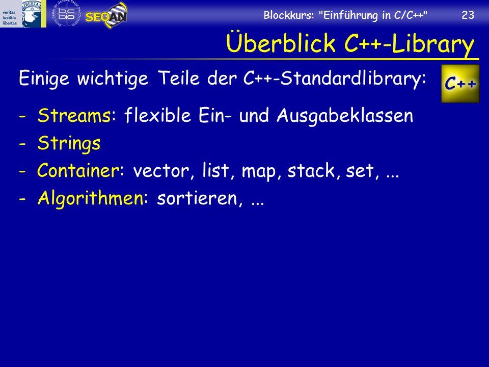 Überblick C++-Library