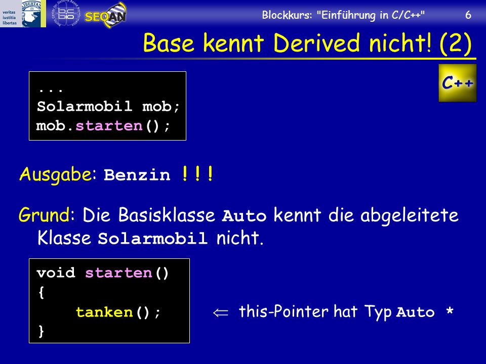 Base kennt Derived nicht! (2)