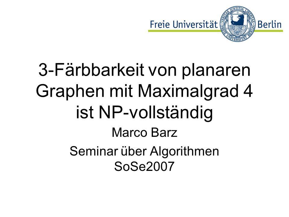 Marco Barz Seminar über Algorithmen SoSe2007